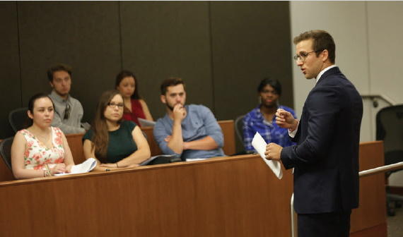 Law students compete in a mock trial. Photo: David Sanders